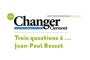 Trois questions à Jean-Paul Besset