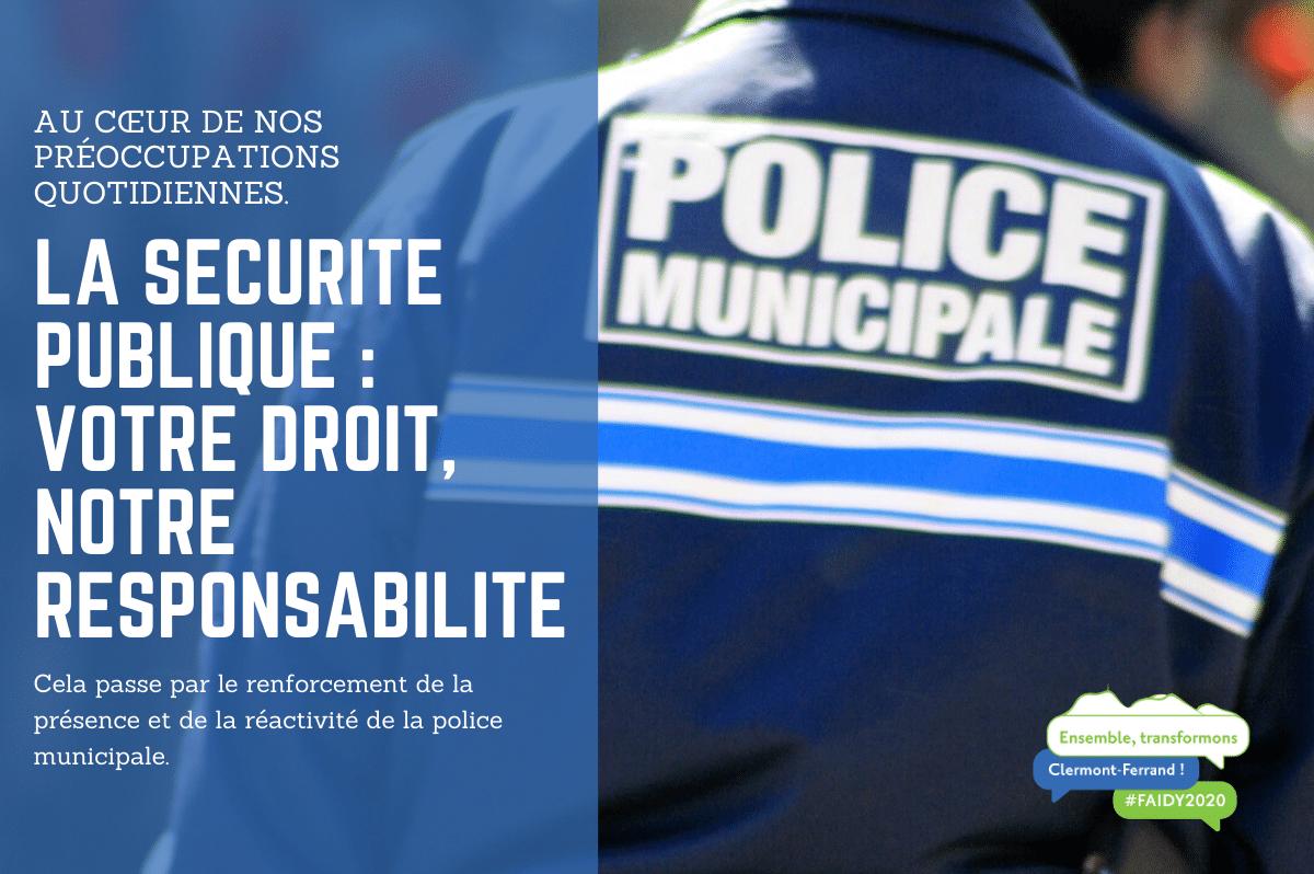 La sécurité publique : votre droit, notre responsabilité