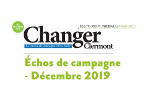 Échos de campagne – Décembre 2019