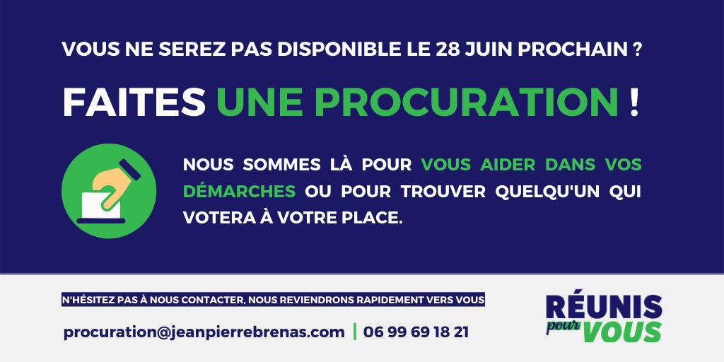 Voter par procuration à Clermont-Ferrand le 28 juin
